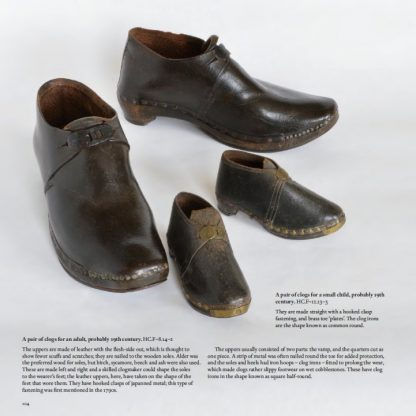 Clogs for an adult and child, probably 19th century