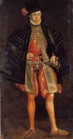 Portrait of a family member of the Count Palatine of Zweibruecken-Veldenz, Master of the Vohenstrauss Portraits, paint on canvas, c. Neuburg an der Donau, ...